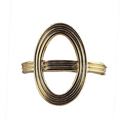 Gold Oval Stretch Bracelet