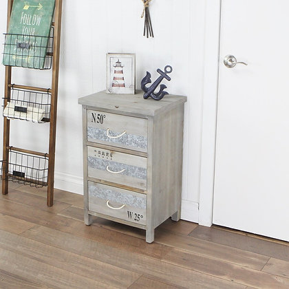 Wooden Cabinet with 3 Drawers and Rope Handles by Cheungs