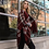 Thumbnail: Burgundy Drape Tartan-Plaid Shawl