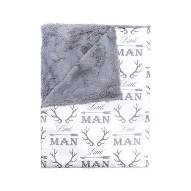 JLIKA Stroller Blanket Grey and White Little Man