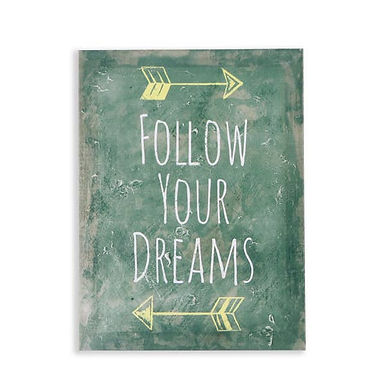 Follow Your Dreams Canvas Wall Art by Cheungs