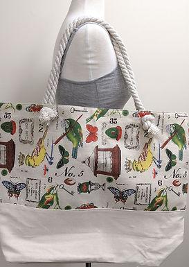 Large Zip Closure Tote Bag