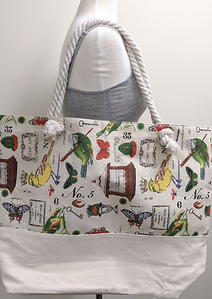 Large Zip Closure Tote Bag