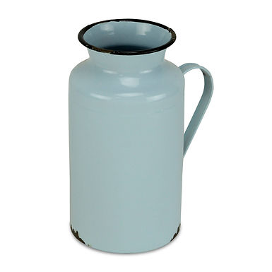 Lacquered Blue with Black Rim Jug Decor by Cheungs