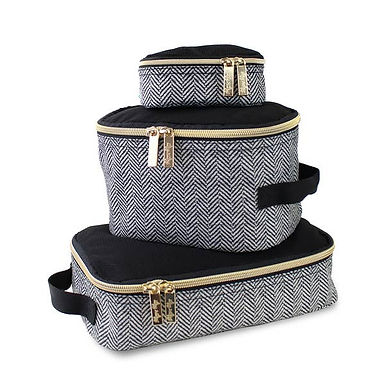 Itzy Ritzy Coffee & Cream Travel Bag Packing Cubes