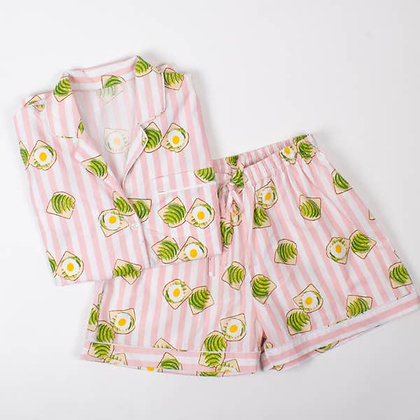 8 Oak Lane Avocado Toast Pajama Set
