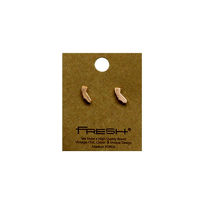 State of California (CA) Earrings - Rose Gold