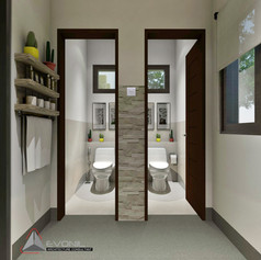 Toilet Interior View - Villa Gunung Geulis