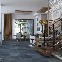 Stair Interior View - Residence Jatiwaringin