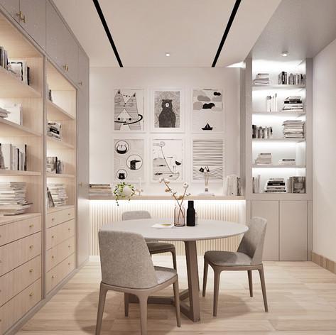 Study Room Interior View - Residence Grisenda
