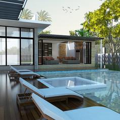 Swimming Pool View - Residence Pangkalan Bun