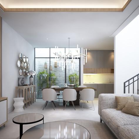 Living Room Interior View - Residence Pelepah Asri