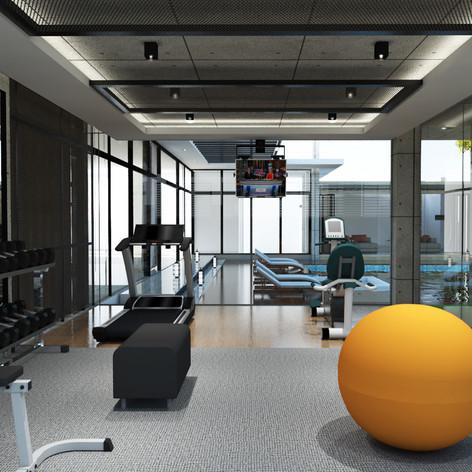 Gym View - Residence Pangkalan Bun