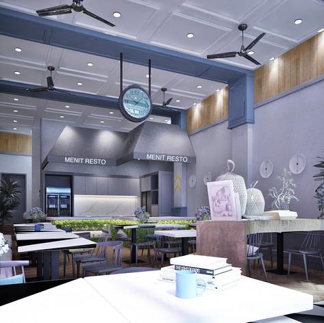 Interior View - MENIT Restaurant Muara Karang