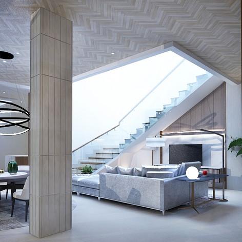 Living Area Interior View - Residence Grisenda