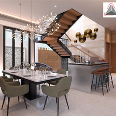 Dining Area Interior View - Residence Sunter Hijau