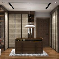 Master Closet Interior View - Residence Jatiwaringin