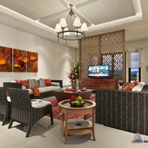 Living Room Interior View - Villa Gunung Geulis