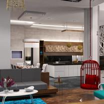 Kitchen Area Interior View - Residence Jatiwaringin