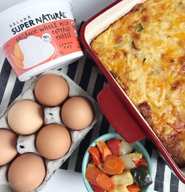 Roasted Veggie Breakfast Casserole with Cottage Cheese