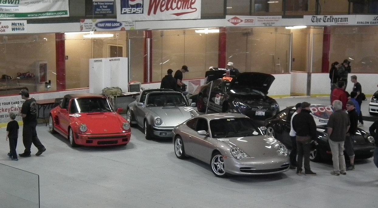 PCA Porsches at 2014 NL Targa Car Show