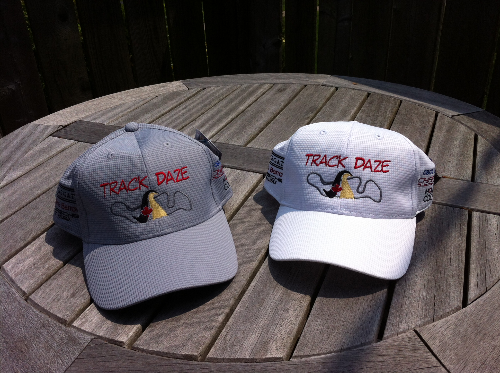 Track Daze Silver Nano cap, shown  in grey and white