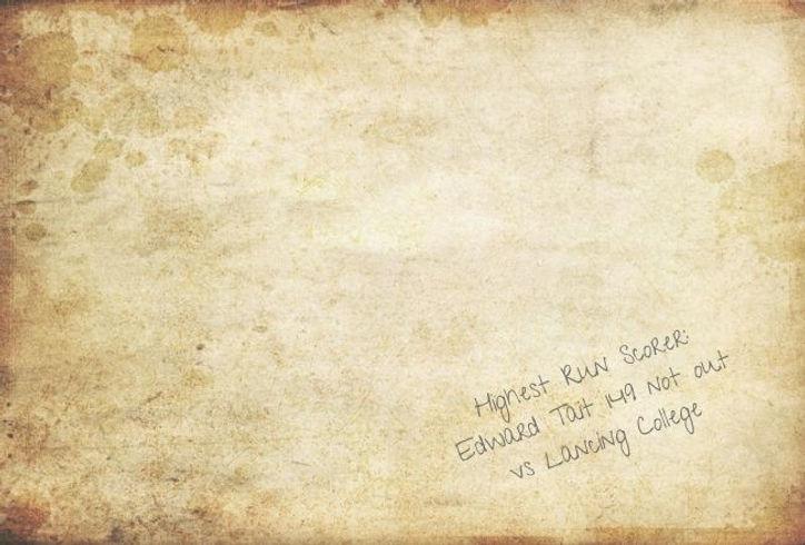e.g. Highest Run Scorer_ Edward Tait 149