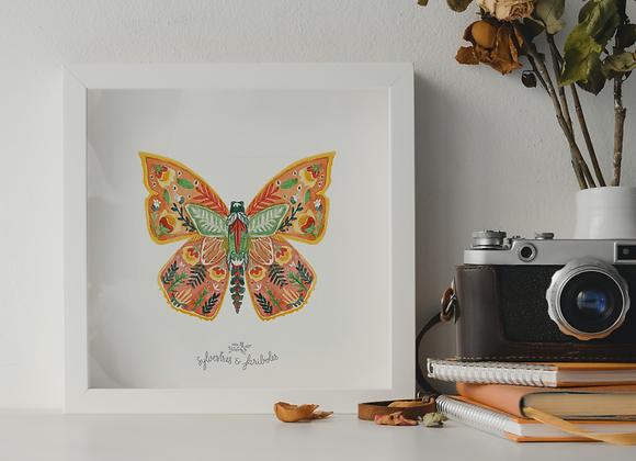 Papillon solo - Orange Mecanic