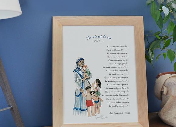 Poster prière Mère Teresa