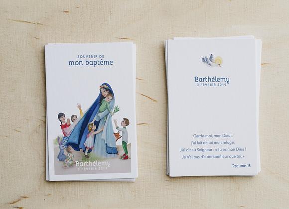 Signet de Baptême Marie (Mise en page + fichier PDF HD)