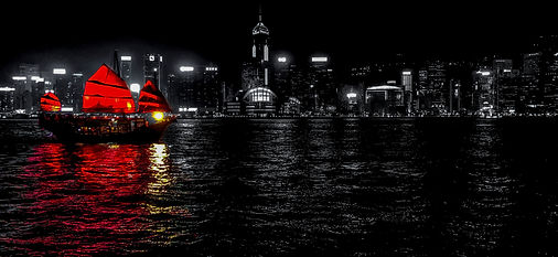 blacked-out Victoria Harbour.JPEG