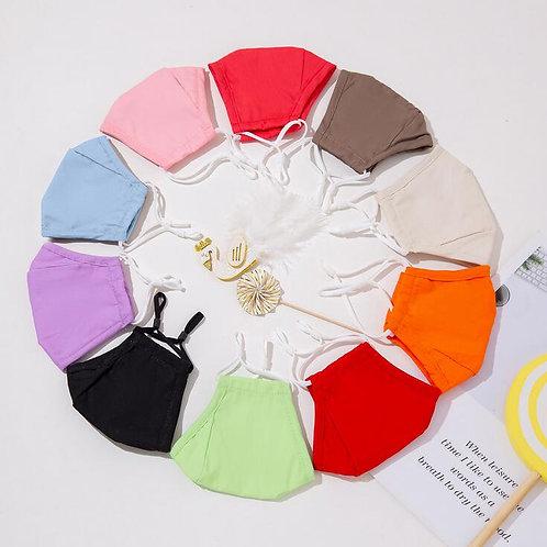 Children's Pure Color Cotton Mask