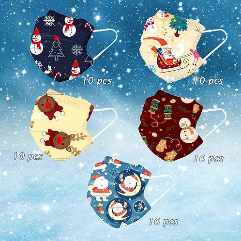 Maschera usa e getta natalizia a cinque colori
