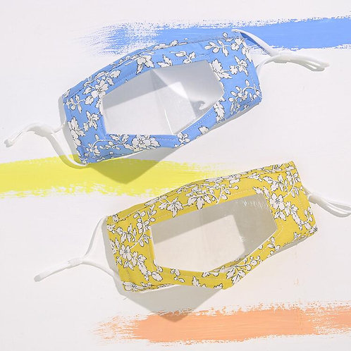 Line Drawing Flower Transparent Mask