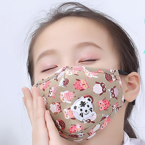 3PCS Children's Breathing valve Cartoon Masks