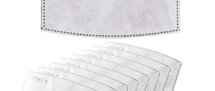 Papier filtre à cinq couches pour masque PM2.5 (Adulte)