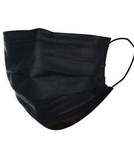 Black 50pcs 3-Layer Face Mask