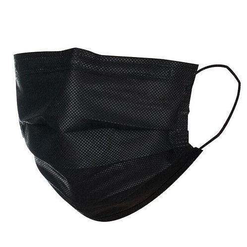 Maschera facciale nera a 3 strati 50 pezzi