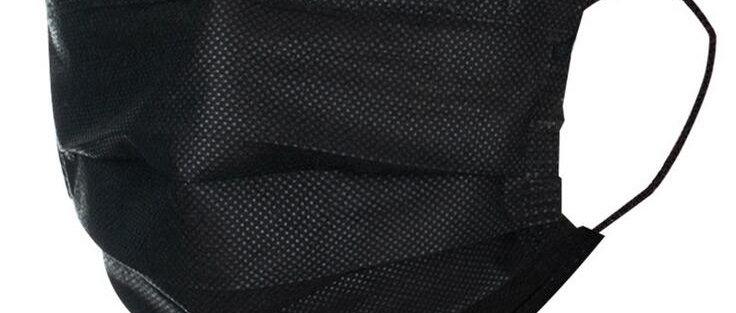 Masque noir 50pcs 3 couches