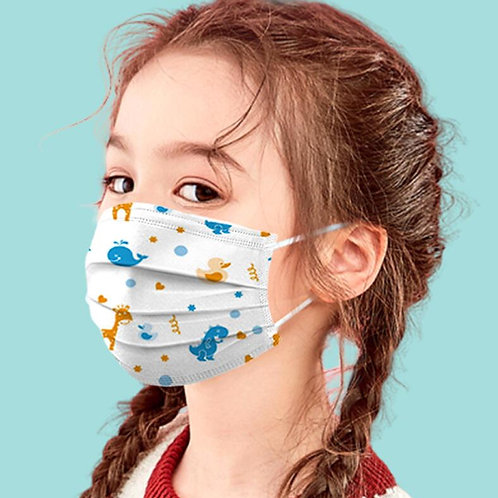 50PCS 3-Layer  Child Masks