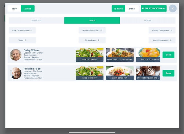 Simple Consumer Meal Orderinging