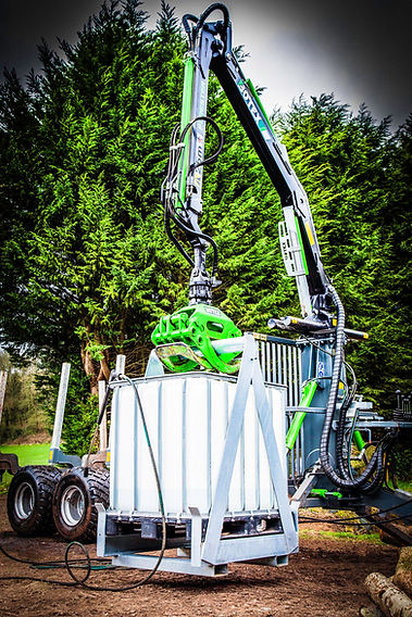 Suttons Forestry Grab Bar High Powered Hydraulic Pressure Wash System uk