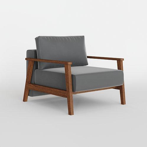 Кресло PETRA, цвет серый