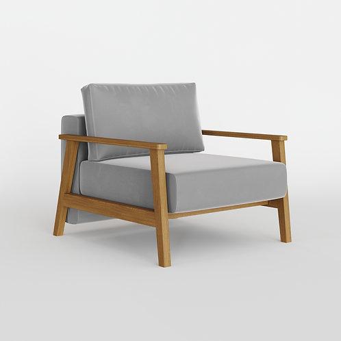 Кресло PETRA, цвет светло серый