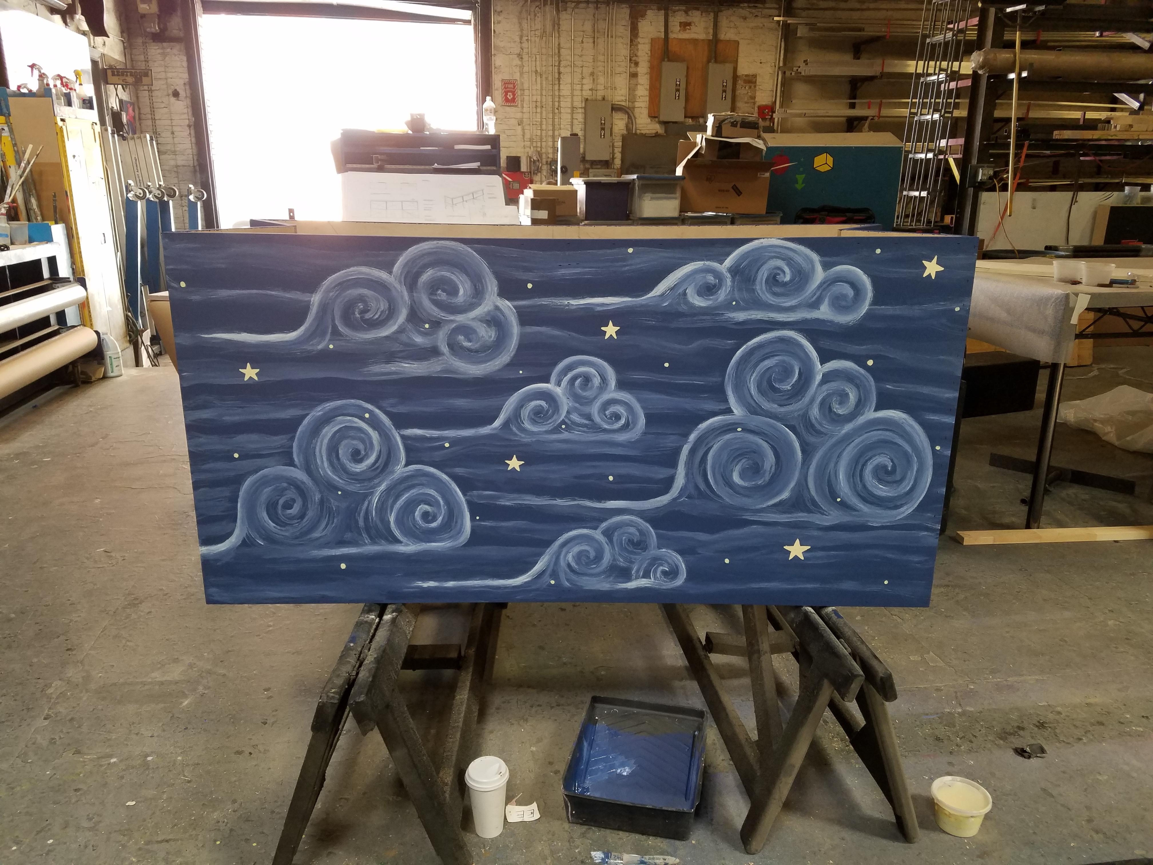 Custom Moon Bench
