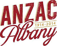 2. Albany Anzac Logo Merlot and Gold CMY