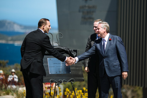 Offiical opening of the National Anzac Centre