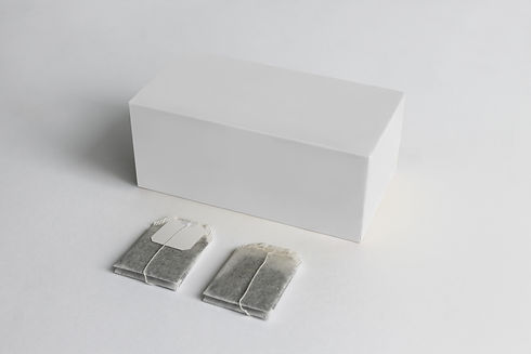 Tea Box and tea bag with Label Mockup. W