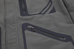 Decorative Laser Cut Zipper Pocket