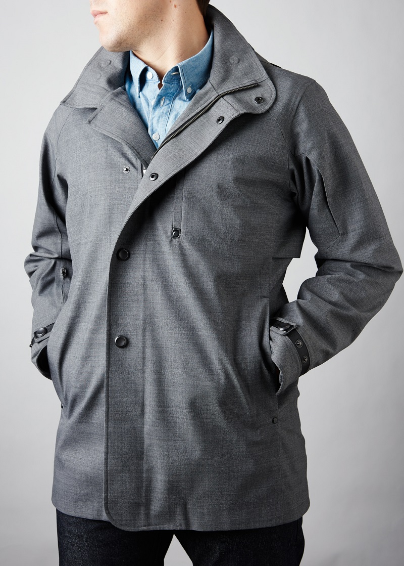 Wool Blend Waterproof Jacket